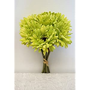 Sweet Home Deco 13'' Silk Artificial Gerbera Daisy Bouquet (W/ 7stems, 7 Flower Heads), Home/Wedding Decorations 78