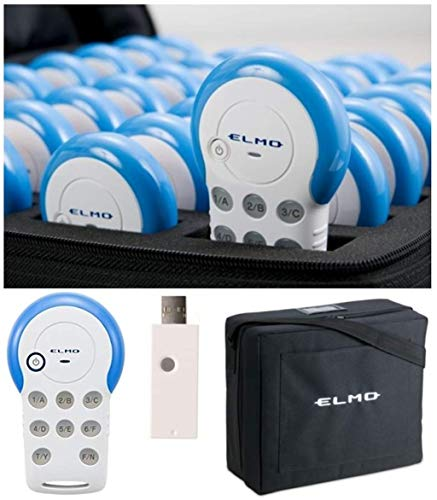 Elmo 1335-24 Model CRV-24 Student Response System; Includes 24 Sets of Clicker, Wireless Adapter, Image Mate Accent for SRS Software and Carrying Bag