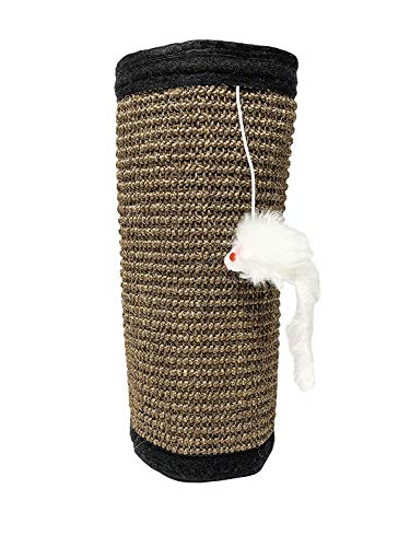 Midlee Wrap Around Pole Cat Scratcher- Pack of 2 Sisal with Mouse Toy