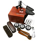 Premium Leather Care Shoe Shine Kit by Modern Man Influence, Brown, Medium (Color: Brown, Tamaño: Large)