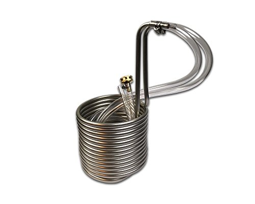 Coldbreak Brewing Equipment CB13825SSV COLDBREAK 25' Wort Chiller, 3/8'' Stainless Steel, 4' Vinyl Tubing, Heavy-Duty Garden Hose Fitting, Copper by Coldbreak Brewing Equipment (Image #3)