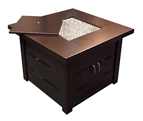 AZ Patio Heaters GS-F-PC Propane Fire Pit, Antique Bronze Finish - Patio Table Finish