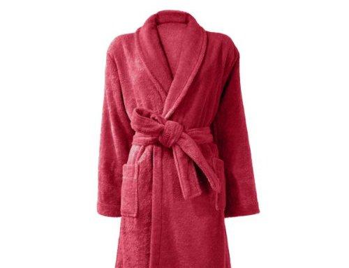 Bademantel Cosy, 100% Baumwolle 450 g/m², Größe S, Rouge