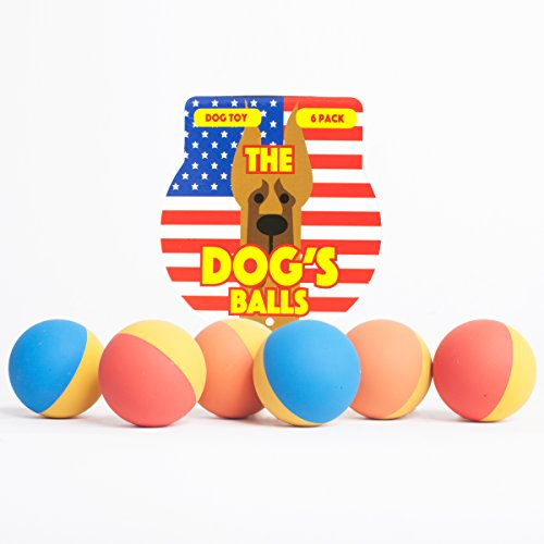 The Dog's Rubber Balls – Premium Tough & Bouncy Rubber Dog Balls, 3 Sizes, Quality Strong Dog Toy for Fetch, Puppy Training, Exercise & Play