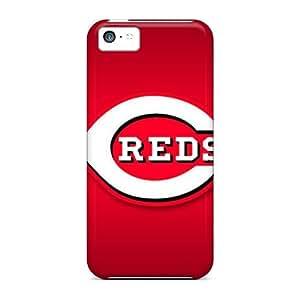 Iphone 5c EiF5028DMIE Provide Private Custom Realistic Cincinnati Reds Pattern Shock Absorbent Hard Phone Cover -JasonPelletier hjbrhga1544