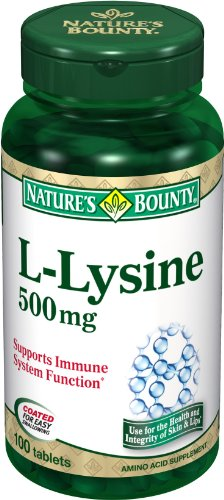 Nature's Bounty Natural L Lysine, 500mg, 100 Tablets