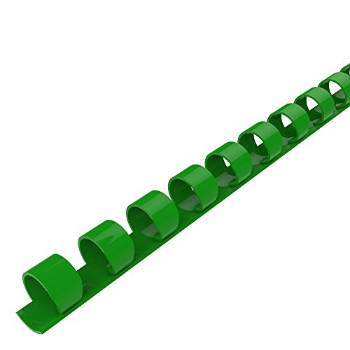 Green Binding Combs - Rayson CR-8-100-G Plastic Comb Binding 21-Ring, 5/16in, 40-Sheet(80gsm 50lb) Capacity, Green, Box of 100