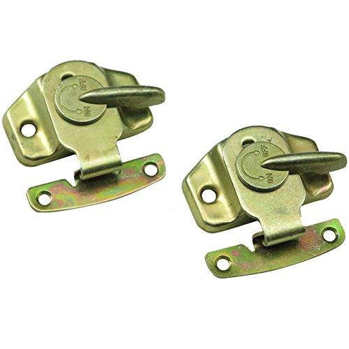 (Echaprey 2Pcs Iron Table Lock Buckle Dining Training Table Locks Buckles Connectors with Hardware Accessories (Color-zinc))