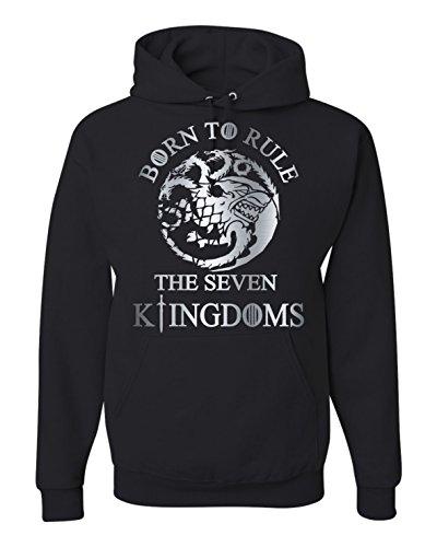 Jon Snow Born to Rule Game of Thrones Unisex Hoodie Sweatshirt - Of Thrones Game Hoodie