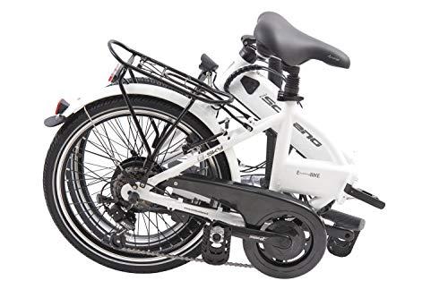 F.lli Schiano E- Sky, Bicicletta elettrica Pieghevole Unisex Adulto, Bianca, 20'' 3 spesavip