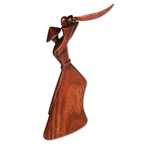 NOVICA 159000 Samurai Strategy Wood Sculpture
