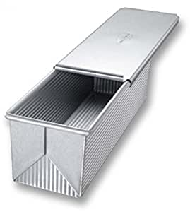 USA Pan Bakeware Aluminized Steel Pullman Loaf Pan With Cover, 13 X 4-Inch __#pricenter-ksdy