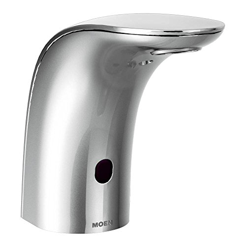 Moen 8553 Mpower Sensor Operated Single Mount Above Deck Lavatory High Arc Battery Powered Non Mixing Faucet