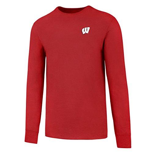 NCAA Wisconsin Badgers Men's Ots Rival Long sleeve Lccb Tee, X-Large, - Cotton Shorts Badger
