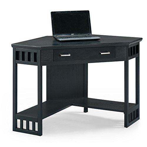 Leick Corner Computer and Writing Desk, Black Finish