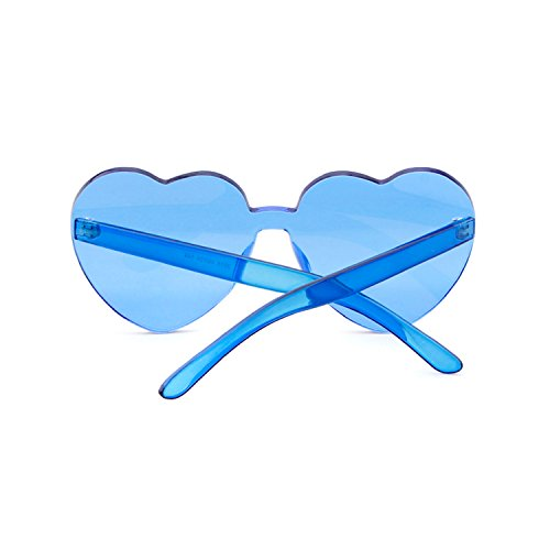 Gafas corazón corazón con forma mujer niña Gafas de en de Blue para sin ADEWU de de sol sol forma montura ZXPSZ8p