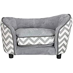 JupiterForce Elevated SnuggleCat Dog Pet Sofa Bed Ultra Plush Sleeping Couch Pet Bed with Lovely Cushion