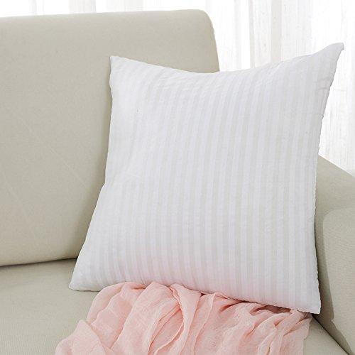 2 Pack 18 x 18 Square Pillow Insert Decorative Polyester Fibre Cushion Insert Throw Pillow Insert 45x45cm