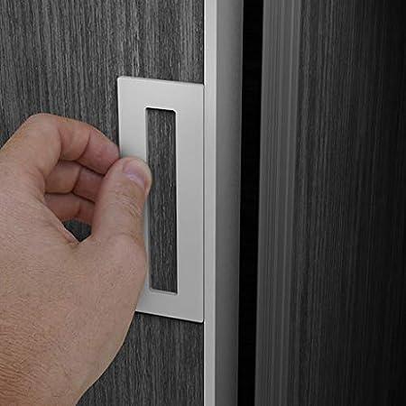 Black 2 Pack Finger Pull Self-Stick STQ Flush Handle for Sliding Pocket Doors Self-Adhesive no Screws Needed
