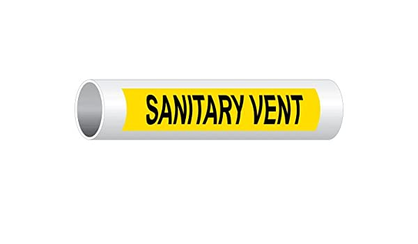 8x2 inch 5-Pack Vinyl for Pipe Markers Pipeline//Utility by ComplianceSigns Black Legend On White Background Abandoned Pipe Label Decal