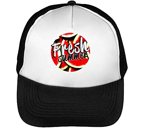 Fresh Summer Dope Graphic Gorras Hombre Snapback Beisbol Negro Blanco