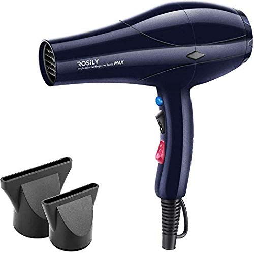 Rosily Professional 2200W Ionic Ceramic Hair Dryer | Fast Drying Salon Quality Blow Dryer with Nozzle Attachments for Smooth Shine and Silky Hair | Extra Long Cord and Faster Drying Time (3000 Watt Dryer)