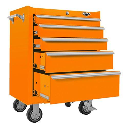 Viper Tool Storage V2605ORR 26-Inch 5-Drawer 18G Steel Rolling ...