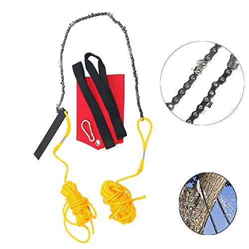 YaeTek Rope-and-Chain Saw - 48 Inch High Reach Limb Hand Chain Saw - Comes with Ropes, Throwing Weight Pouch Bag (48 Inch) by YaeTek (Image #1)