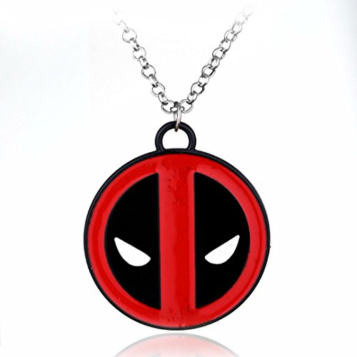 Dan's Collectibles and More Deadpool 2 Necklace Marvel Swords Black Symbol Comic Movie Avengers Spiderman w/Gift Box by ()