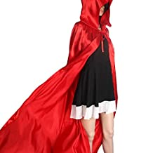 ABC® 1PC Hooded Cloak Coat Medieval Wicca Robe Cape Shawl Halloween Party (L)