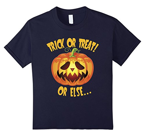 Father And Toddler Son Halloween Costumes (Kids Scary Jack-o-Lantern Pumpkin Face Halloween Costume Tshirt 12 Navy)