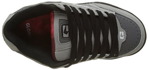 Globe Tilt, Zapatillas de Skateboard Para Niños Multicolor (Grey/black/red)