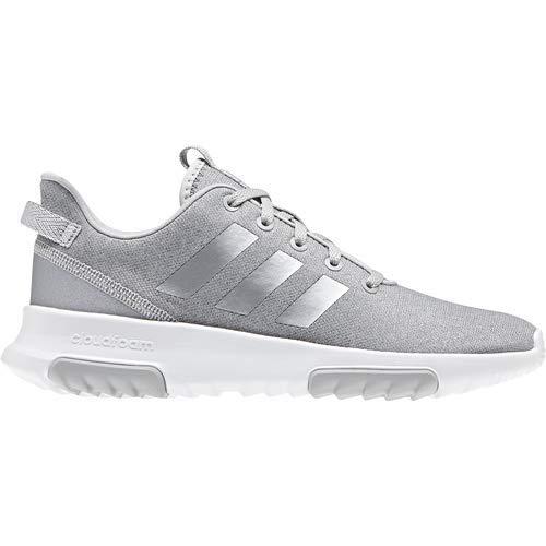adidas Kids CF Racer TR Running Shoe, Grey/Silver Metallic/White, 12.5K M US Little Kid