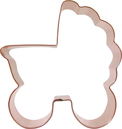 CopperGifts: Baby Carriage Cookie Cutter - Rounded