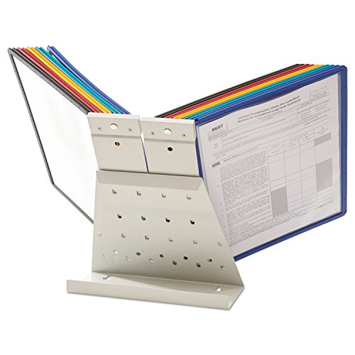 DURABLE Vario 20-Panel Desktop Reference System, Assorted Color Borders (536100) by Durable (Image #9)