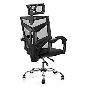 Ergonomic High Back Mesh Office Chair, Fansee Home Office Computer Desk  Chair Swivel Task Chair with Breathable Seat Cushion, Adjustable Headrest,