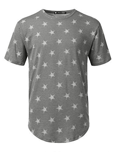 URBANCREWS Mens Hipster Hip Hop All Over Print Crewneck Short Sleeve T-Shirt
