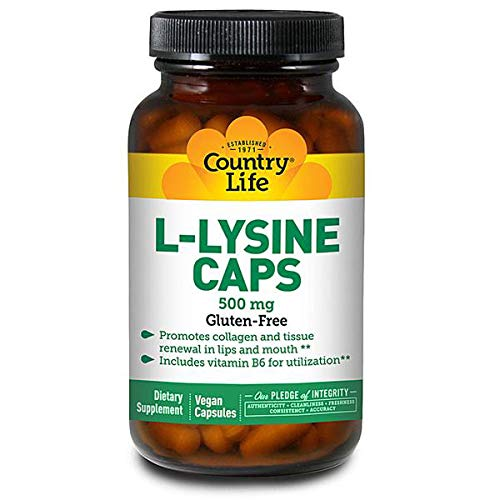 Country Life L-lysine 500 Mg with b-6, 100-Count by Country Life