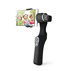 Lightwish - JJ-1 Black Handheld 2-Axis Smartphone Brushless Gimbal Stabilizer for Smartphone Apple iPhone Samsung Galaxy S7 S6 edge IOS Android