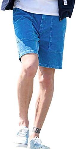 メンズ ショートパンツ ハーフパンツ コーデュロイ 短パン 膝上 抜染