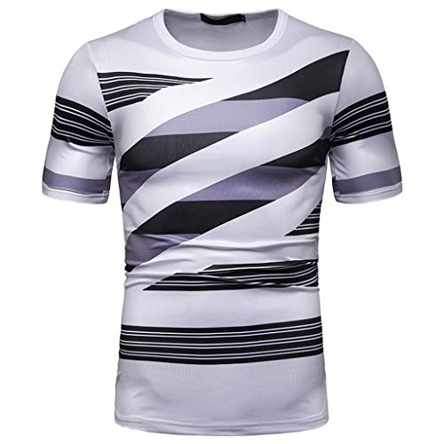 Mens Summer t Shirts Short Sleeve,Tronet Men's Fashion World Printing T Shirt Leaf Short Sleeve Tops Casual Open Shirts