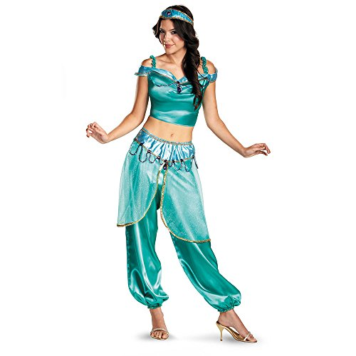 [Jasmine Deluxe Costume - Medium - Dress Size 8-10] (Princess Jasmine Costumes Sexy)