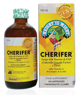 Cherifer Syrup w/ Taurine & CGF + Zinc 120ml by Cherifer
