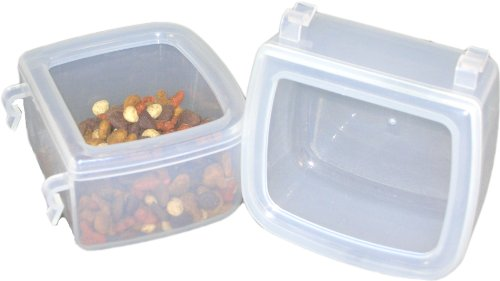 DryFur Pet Carrier Food Water Dish - Spill Resistant - Hook On cups (set of 2)
