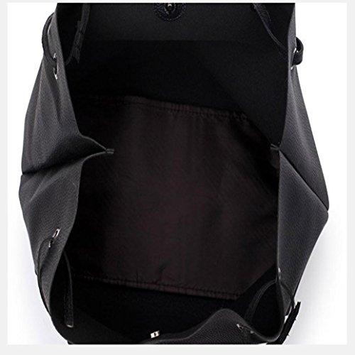 Tracolla portafoglio Nero2 4Pcs borsa Borsa Borsa Donna donna Borsa borsa pelle ✿✿Yesmile Borsa Sacchetto Elegante tela borsa DarkGray Modello C tracolla Borse borsetta crossbody Zaino in Portafogli 8wZFqvF