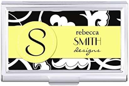 Swirled Pattern Swirly Style - Black White Card Holder