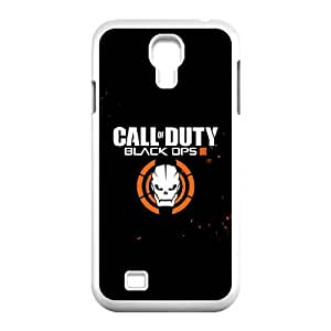 Extremely Fit Clear Hard Back ,Duty Black Ops 3 Logo Anti-Scratch Crystal Clear Case Bumper,TPU Phone case for SamSung Galaxy S4 9500,white