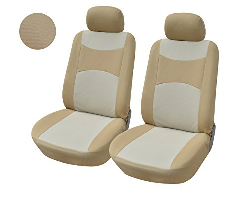 116003 Tan-fabric 2 Front Car Seat Covers Compatible to Toyota 4 Runner 2018 2017-2007