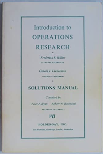 Introduction to operations research solutions manual frederick s introduction to operations research solutions manual frederick s hillier gerald j lieberman amazon books fandeluxe Image collections