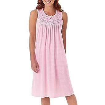 d9eb2a7bb8 EZI Women s Cotton Sleeveless Nightgown